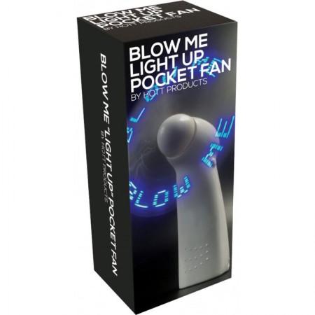 Blow Me Light Up Pocket Fan White
