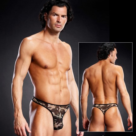 Blue Line Camouflage Mesh GString